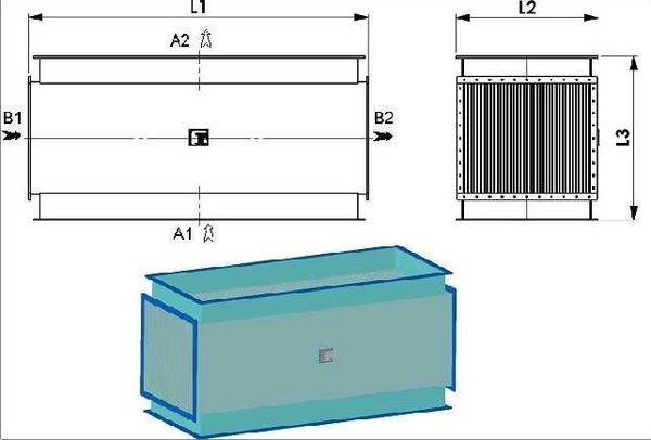 Теплообменник с поверхностью теплообмена 71,40 м²