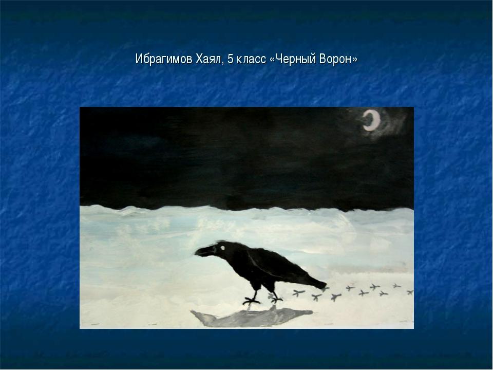 Ибрагимов Хаял, 5 класс «Черный Ворон»