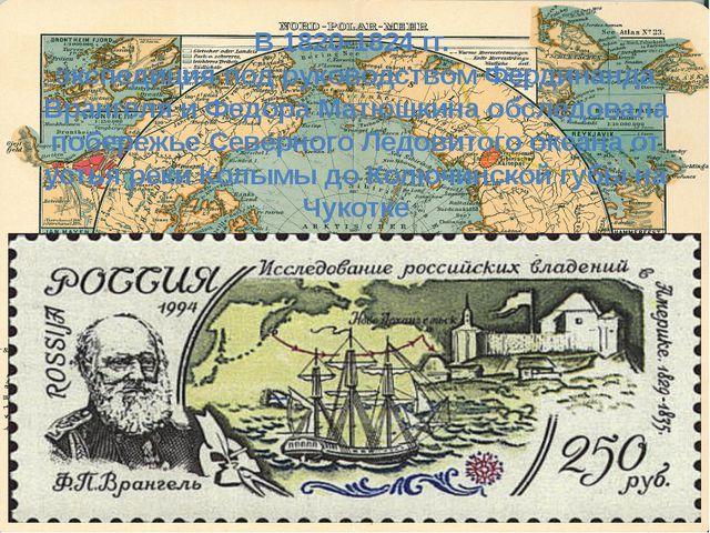 В 1820-1824 гг. экспедиция под руководством Фердинанда Врангеля и Федора Матю...