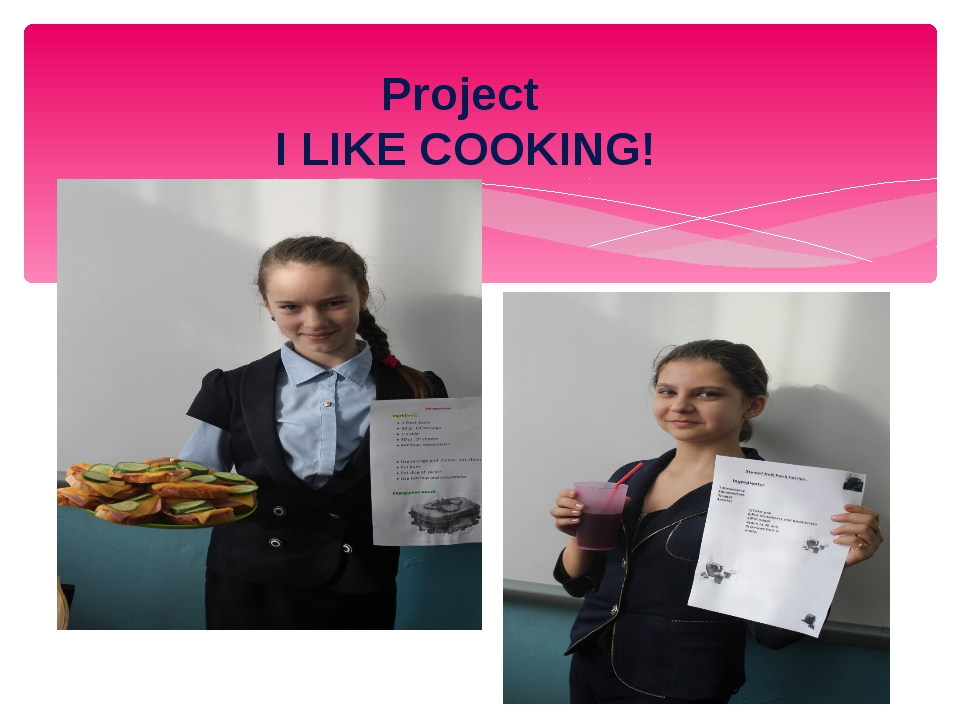 Project I LIKE COOKING!