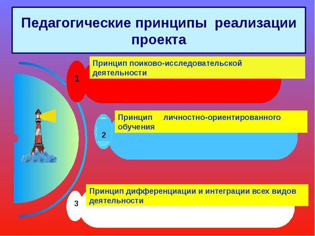 Педагогические принципы реализации проекта 1 Принцип поиково-исследовательско...
