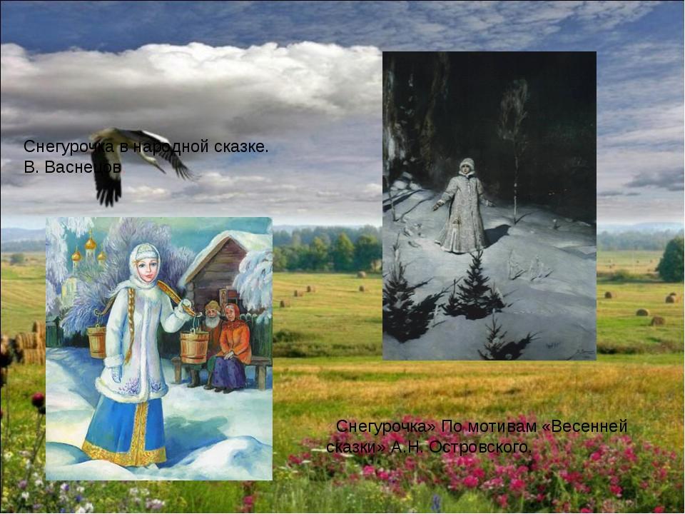 Снегурочка в народной сказке. В. Васнецов. «Снегурочка» По мотивам «Весенней...