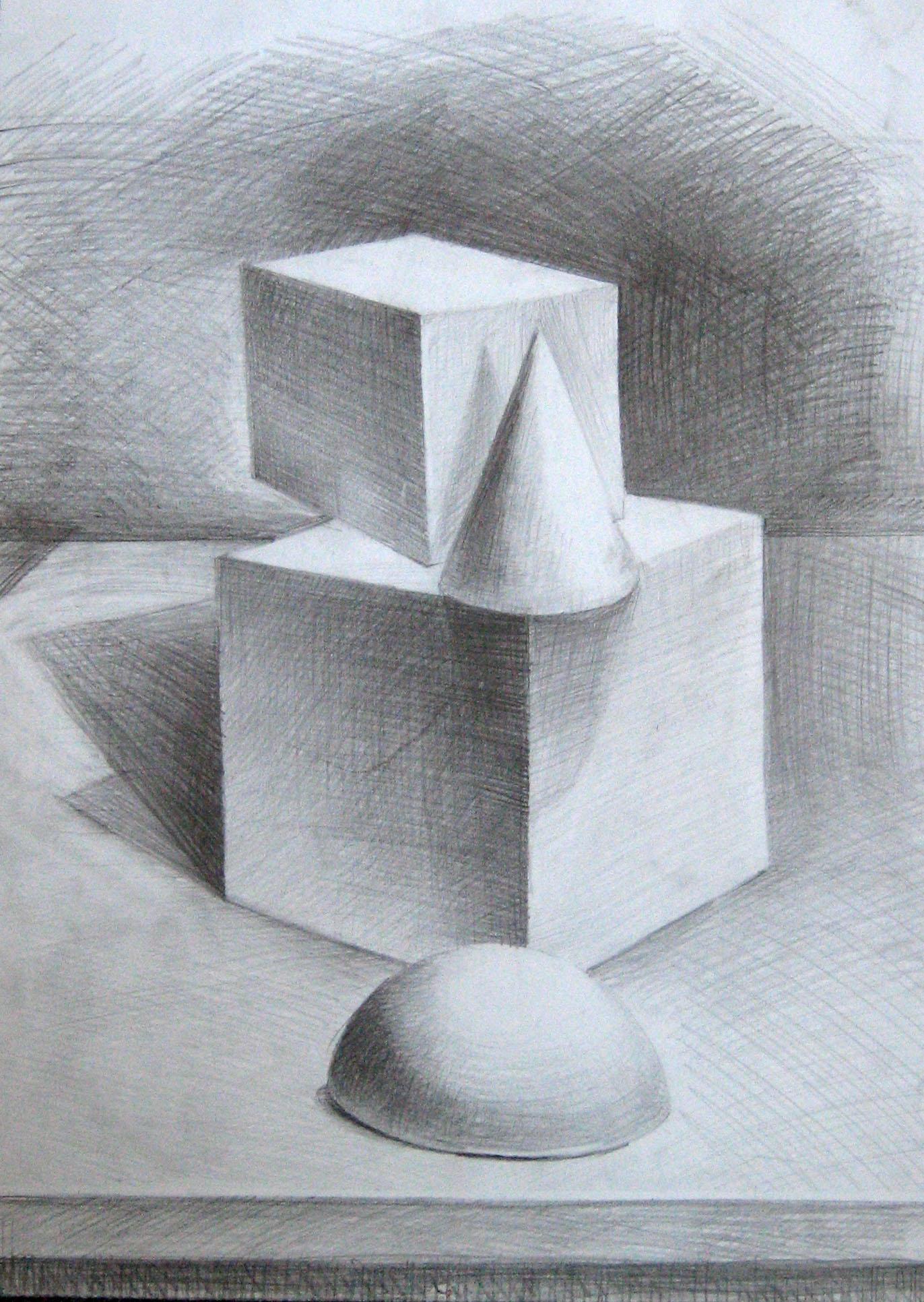 Композиция картинки карандашом