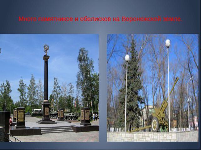 Много памятников и обелисков на Воронежской земле.
