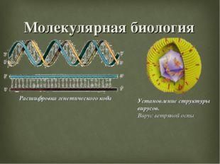Молекулярная биология Расшифровка генетического кода Установление структуры в