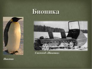 Бионика Пингвин Снегоход «Пингвин»