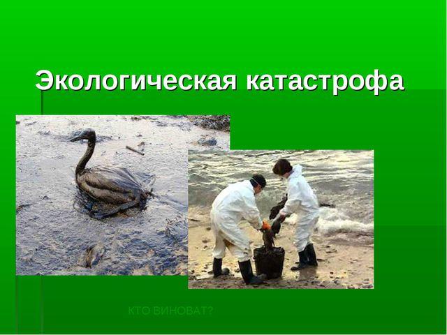 Экологическая катастрофа КТО ВИНОВАТ?