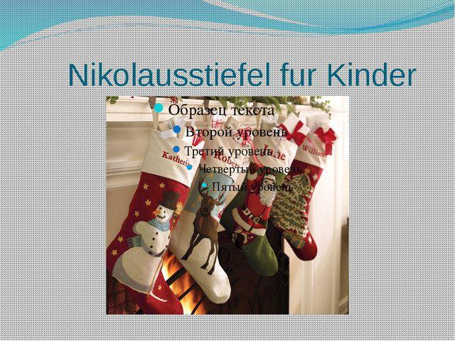 Nikolausstiefel fur Kinder