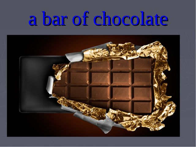 a bar of chocolate