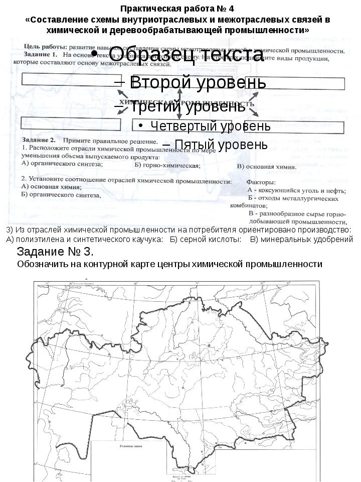 Практическая работа 4 составление схемы межотрослевых связей хим пром по географии за 9класс