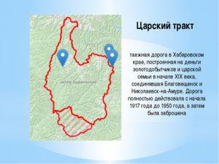 Царский тракт таежная дорога в Хабаровском крае, построенная на деньги золото