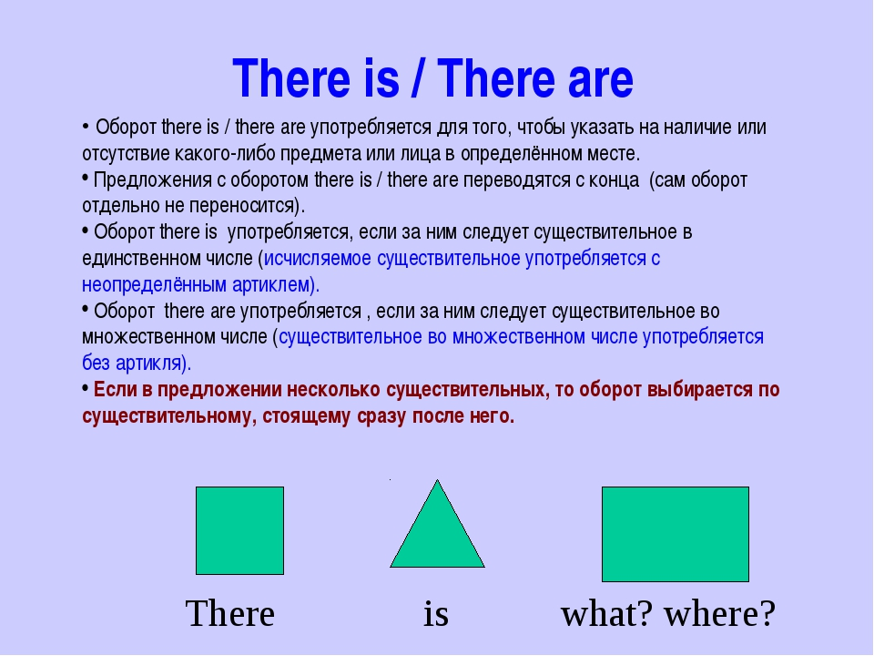 There is / There are Оборот there is / there are употребляется для того, чтоб...
