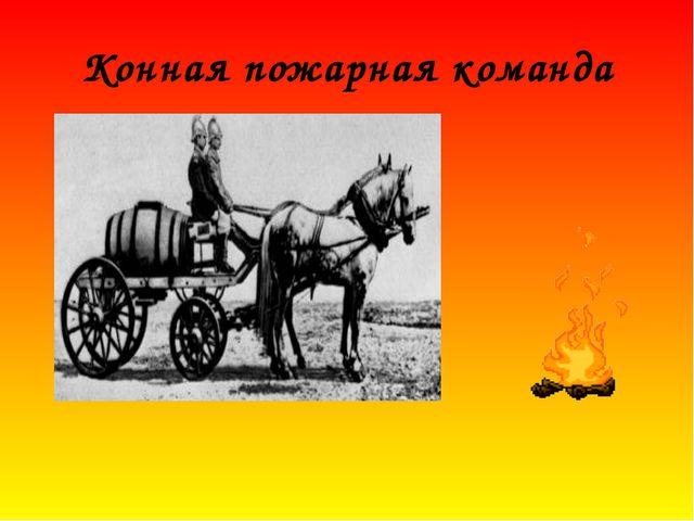 Конная пожарная команда