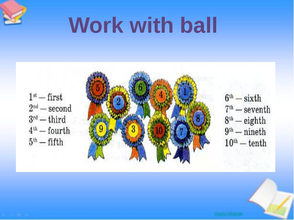 Work with ball