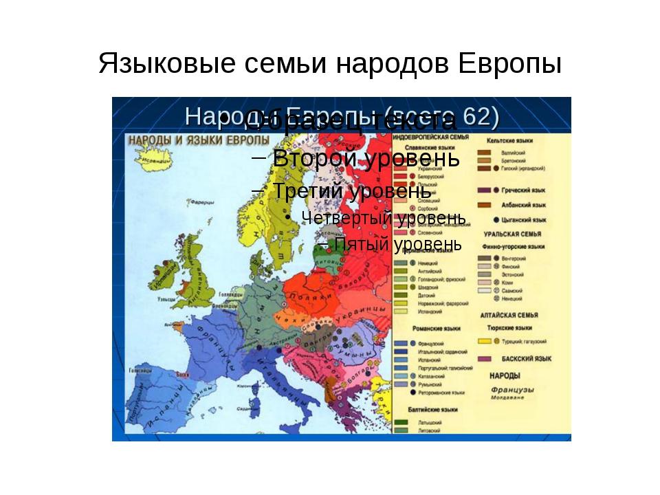 Языковые семьи народов Европы