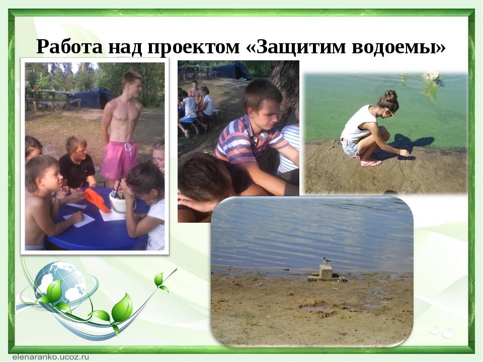 Работа над проектом «Защитим водоемы»