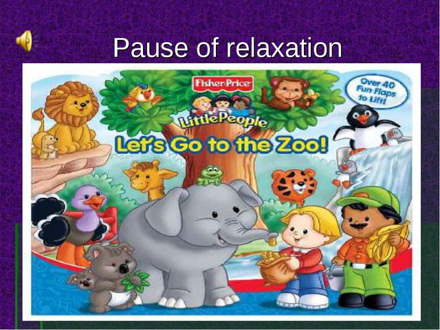 Pause of relaxation