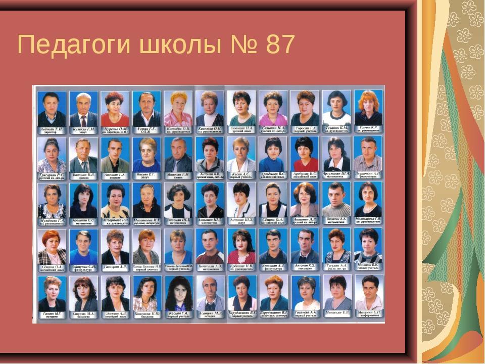 Педагоги школы № 87