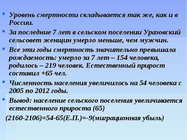 Уровень смертности складывается так же, как и в России. За последние 7 лет в...