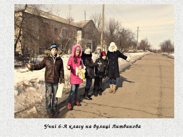 Учні 6-А класу на вулиці Литвинова