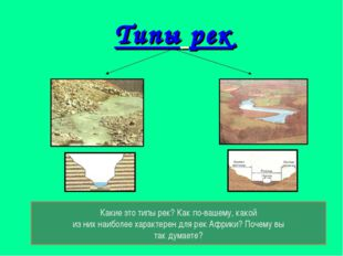 Типы рек Какие это типы рек? Как по-вашему, какой из них наиболее характерен