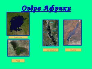 Озёра Африки Виктория Танганьика Ньяса Чад