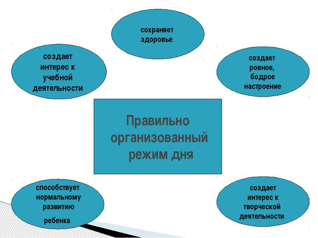 Правильно организованный режим дня создает интерес к учебной деятельности спо...