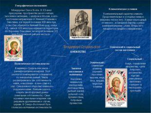Владимиро-Суздальское княжество Климатические условия: Континентальный характ