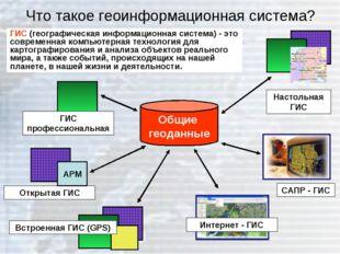 Что такое геоинформационная система? ГИС (географическая информационная систе