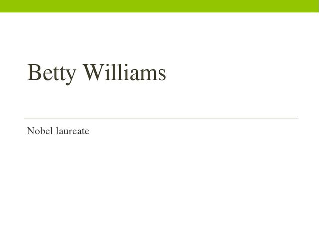 Betty Williams Nobel laureate