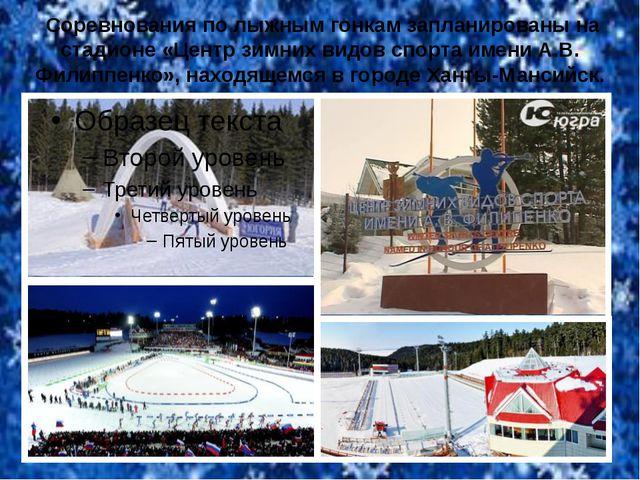 Соревнования по лыжным гонкам запланированы на стадионе «Центр зимних видов...