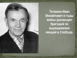 Телюкин Иван Михайлович в годы войны руководил бригадой по выращиванию овощей