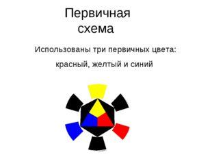 Первичная схема Использованы три первичных цвета: красный, желтый и синий