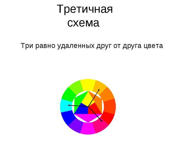 Третичная схема Три равно удаленных друг от друга цвета