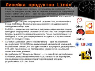 Debian— операционная система, состоящая как из свободного ПО с открытым исхо