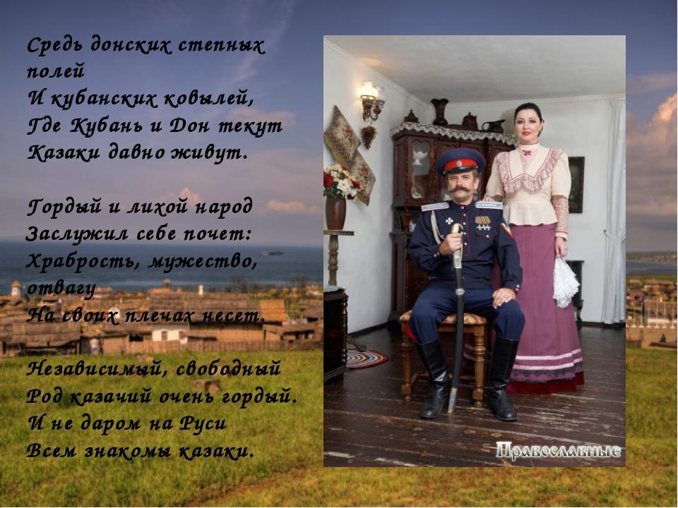 стихи про казаков донских нашей фабрики