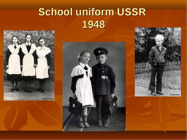 School uniform USSR 1948