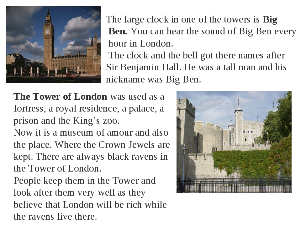 The large clock in one of the towers is Big Ben. You can hear the sound of Bi...