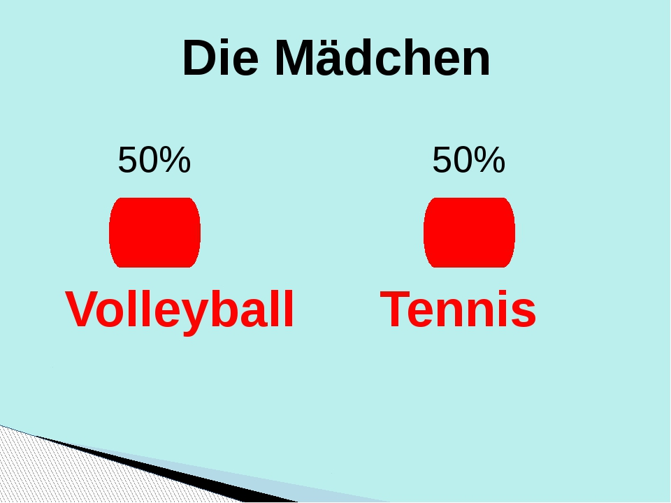 Die Mädchen 50% 50% Volleyball Tennis