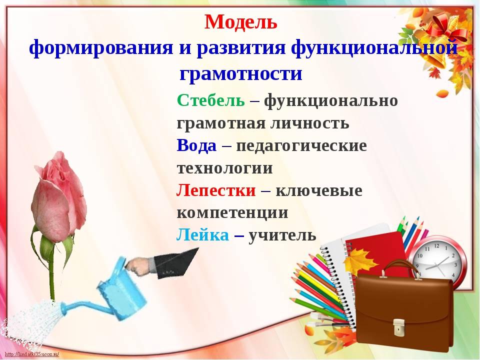 Модель формирования и развития функциональной грамотности Стебель – функциона...