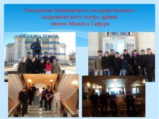 Посещение Башкирского государственного академического театра драмы имени Мажи