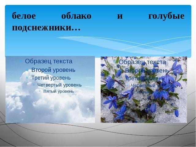 белое облако и голубые подснежники…