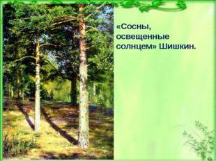 «Сосны, освещенные солнцем» Шишкин.
