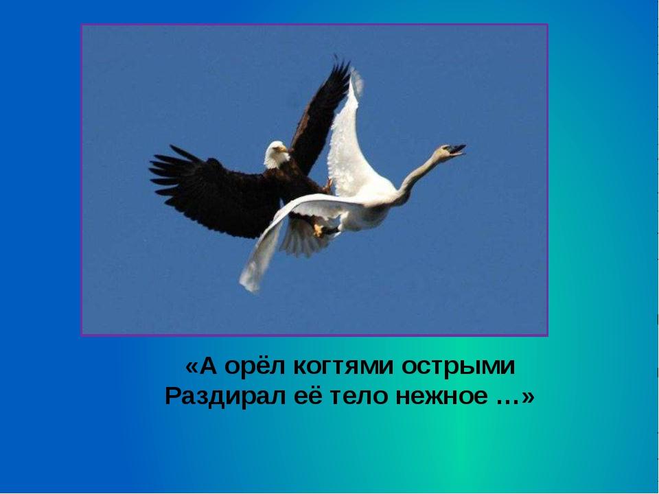 «А орёл когтями острыми Раздирал её тело нежное …»