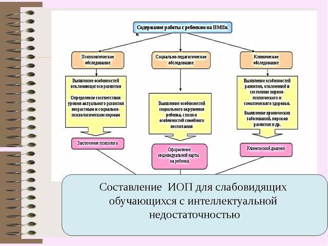 Составление ИОП для слабовидящих обучающихся с интеллектуальной недостаточнос...