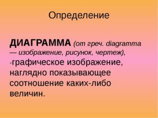 Определение ДИАГРАММА (от греч. diagramma — изображение, рисунок, чертеж), -г
