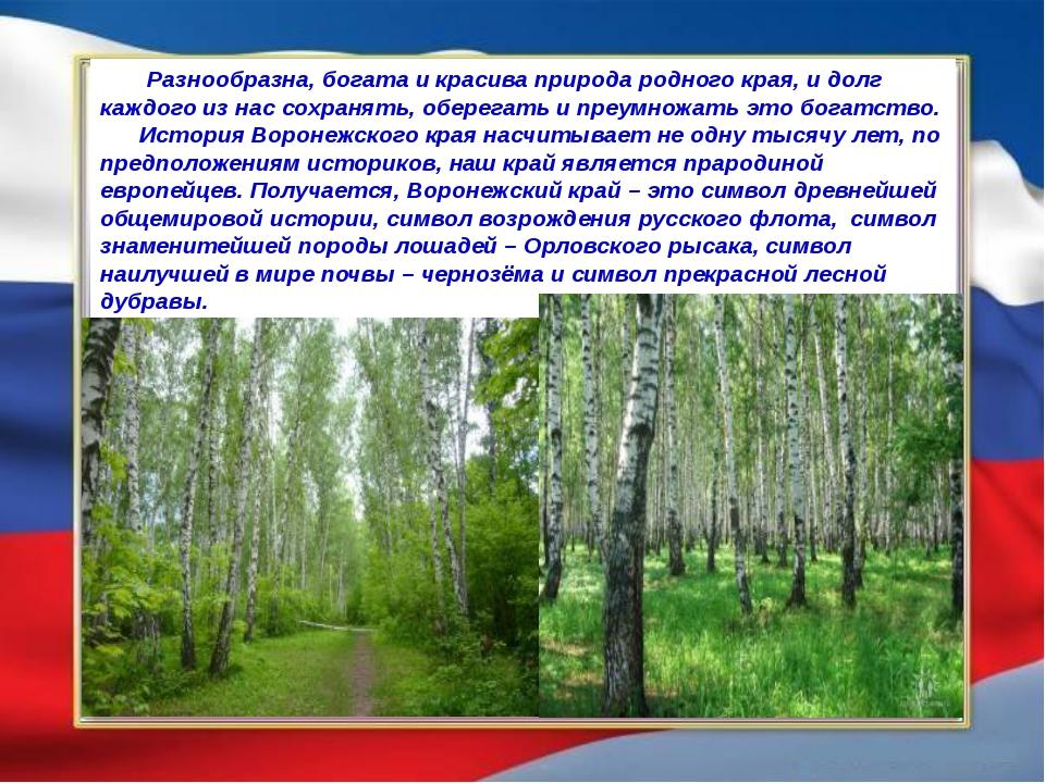 Разнообразна, богата и красива природа родного края, и долг каждого из нас с...