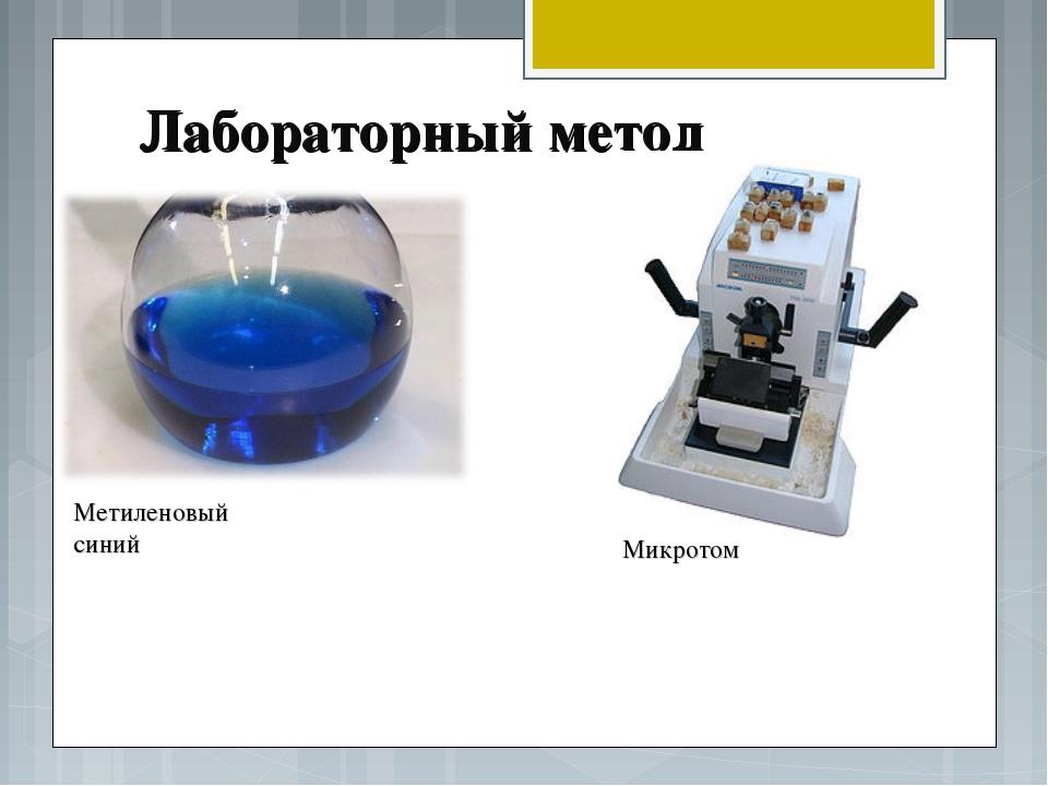Лабораторный метод Метиленовый синий Микротом