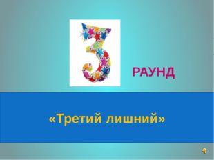 «Третий лишний» РАУНД