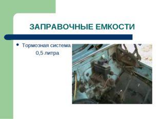 ЗАПРАВОЧНЫЕ ЕМКОСТИ Тормозная система 0,5 литра